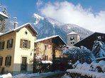 Samoens village in the snow