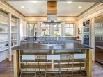 Custom Built luxury Kitchen with Stainless Steel Appliances