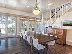 Dining area for gourmet dinners