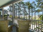 Ocean view outdoor living area