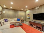 Media room with Large flat screen T.V.
