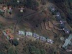 Aerial view of location of Villa Nirvana