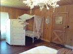 twin canopy bed if you have a plus one friend or relative