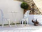 Beautiful outdoor furniture & scupture..
