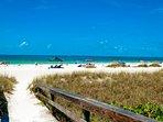 Gulf Beaches Just Two Short Blocks!
