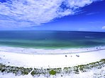 The overview of the beach and Gulf from The Anna Maria Island Beach Sands