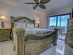 Master bedroom, west balcony and the Gulf of Mexico