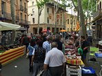 Ceret market every Saturday morning