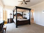 Downstairs, Master suite