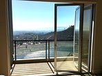 Retractable doors at massage / salon room balcony