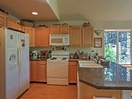 Prepare tasty home-cooked meals in this bright fully equipped kitchen.