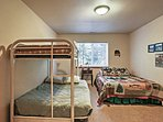 The kids will enjoy the bunk beds