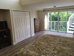 Spacious Master Bedroom W/32' HDTV