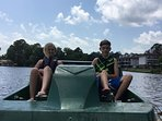 No extra cost to use the fun paddle boats!