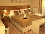 bedroom with two beds 90cm x 200cm that could transform into a double  bed 180cm x 200 cm