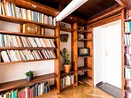 Unique loft room with library