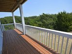 Oceanside deck off Third and Fourth Bedrooms