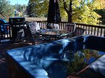 Outdoor Hot Tub Gas Grill Patio Table/Chairs