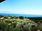 Messinian gulf and Taygetos mountain view from front balcony