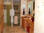 Master bathroom with tile shower