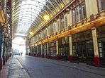 Leadenhall Market in the City of London stands in as Diagon Alley in the early Harry Potter films.