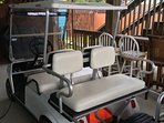 Golf cart available for rental. seats 4