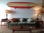 Living room surfboards