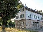 Denkmal geschütztes, renoviertes und saniertes historisches Bahnhofgebäude