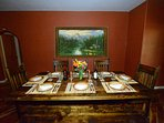 Elegant dining table that seats 8