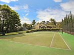 Private Full Size Tennis Court.