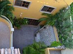 Roof Deck View of Condo Entrance in Courtyard