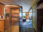 This space boasts stainless steel appliances!