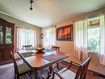 Set the dining room table for 4 and enjoy a family dinner.