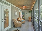 Everybody in your group will love hanging out on the breezy screened-in patio.