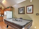 Play a friendly game of air hockey after a delicious meal.
