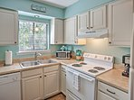 Whip up tasty meals in the fully equipped kitchen.