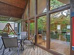 Spend countless leisure hours on this private covered balcony.