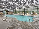 Cool off with access to the indoor community pool.