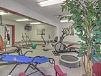 Keep up your daily cardio routine in the fitness center.