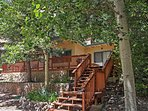 Find peace and tranquility at this Cloudcroft vacation rental cabin!