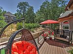 You'll love spending sunny days lounging on the back deck.