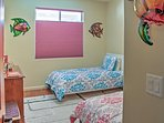2 twin-sized beds are available in the third bedroom.