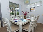 Spacious dining area with full seating for 8 (not common in many 4 bed homes!)
