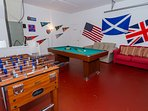 Have some indoor fun for a change - pool table now replaced with a professional, slate base one