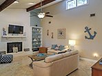 Unwind in the spacious living room after a day of fun in the sun!