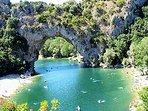 Descente de l' Ardèche en canoé, à 50 mn