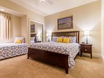 2nd Bedroom - King Size Bed & Twin Size Bed