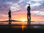 Enjoy the last moment of the day,on your paddle board