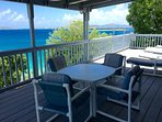 Westerly views of sunsets and St. Thomas