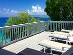 Spacious and private deck for lounging in the sun.
